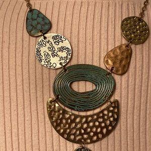 Erica Lyons Mixed Metal Pendant Necklace.